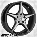 alufelni MIX AVUS AC503 black/polish